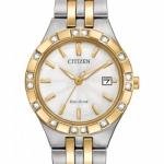 นาฬิกาผู้หญิง Citizen Eco-Drive รุ่น EW2334-51A, Diamond Collection 100m