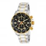 นาฬิกาผู้ชาย Invicta รุ่น 14876, Specialty Chronograph Black Dial 18k gold ion-plated bezel