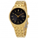 นาฬิกาผู้ชาย Citizen Eco-Drive รุ่น BM7252-51E, Contemporary Dress Gold-Tone Stainless Steel Black Dial Men's Watch