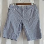 GAP กางเกง ขาสั้น ลายทาง สีฟ้า ขาว