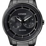 นาฬิกาข้อมือผู้ชาย Citizen Eco-Drive รุ่น BU4005-56H, Calendar Subdial Elegant All Black IP Gent's Watch