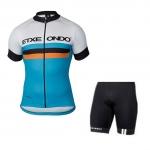(พร้อมส่ง) ชุดจักรยานแขนสั้น ETXE ONDO 2016 Blue ราคาขายส่ง