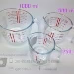 ถ้วยแก้วตวงมีด้ามจับ
