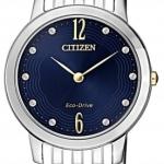 นาฬิกาผู้หญิง Citizen รุ่น EX1498-87L, Eco-Drive Silhouette Swarovski Sapphire 50m Women's Watch