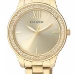 นาฬิกาผู้หญิง Citizen รุ่น EL3082-55P, Stones Gold