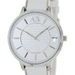 นาฬิกาผู้หญิง Armani Exchange รุ่น AX5300, White Dial White Leather