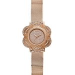 นาฬิกา Guess Model U0139L3, Guess Rose Gold Tone Floral Mesh