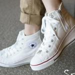 รองเท้าผ้าใบหุ้มข้อแฟชั่นสไตล์เกาหลี