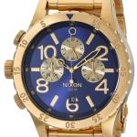 นาฬิกาผู้ชาย Nixon รุ่น A4861922, 48-20 Gold Blue Sunray Stainless Steel Chronograph Watch