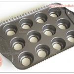 พิมพ์ มินิ ชีส เค้ก 12 ช่อง Nonstick deluxe 12 mini cheesescake ถอดก้น