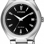 นาฬิกาผู้หญิง Citizen Eco-Drive รุ่น FE6020-56F, Stainless Steel Black Dial 50m Women's Watch