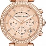 นาฬิกาผู้หญิง Michael Kors รุ่น MK5538, Parker Tortoise Acetate Chronograph
