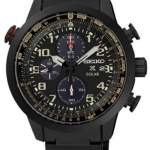 นาฬิกาผู้ชาย Seiko รุ่น SSC419P1, Solar Prospex Sky Aviator Black Chronograph Pilots Watch