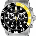 นาฬิกาผู้ชาย Invicta รุ่น INV21553, Pro Diver 50mm Stainless Steel Stainless Steel Black dial Z60 Quartz Men's Watch