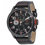 นาฬิกาผู้ชาย Tommy Hilfiger รุ่น 1791136, Multi-Function Black Dial Black Leather