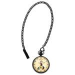 นาฬิกาพก Invicta รุ่น INV24661, Popeye Character Beige Dial Black IP Steel Pocket Watches