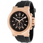 นาฬิกาผู้ชาย Michael Kors รุ่น MK8184, Black Rubber Chronograph Men's Watch