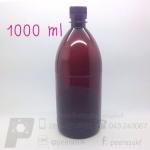 ขวดเคมีสีชาพลาสติก 1000 ml ลังละ 60 ใบ