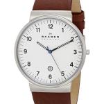 นาฬิกาผู้ชาย Skagen Ancher Brown Leather Strap รุ่น SKW6082