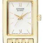 นาฬิกาข้อมือผู้หญิง Citizen รุ่น EJ6052-52A, Analog WR Quartz Ladies Elegant Gold Tone Watch