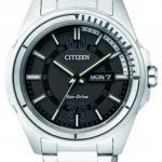 นาฬิกาข้อมือผู้ชาย Citizen Eco-Drive รุ่น AW0030-55E, 100m Black Calendar Sports Watch