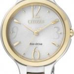 นาฬิกาข้อมือผู้หญิง Citizen Eco-Drive รุ่น EP5994-59A, Sapphire Japan Dual Tone WR 50m