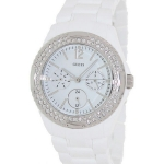 นาฬิกา Guess Model U0062L7, Quartz Silver Tone White Plastic