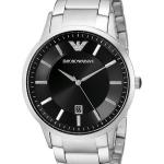 นาฬิกาผู้ชาย Emporio Armani รุ่น AR2457, Sportivo Black Dial Stainless Steel Men's Watch