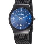 นาฬิกาผู้ชาย Skagen รุ่น T233XLTMN, Titanium Marine Blue Dial Mesh Men's Watch
