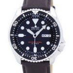 นาฬิกาผู้ชาย Seiko รุ่น SKX007J1-LS11, Automatic Diver's Ratio Dark Brown Leather