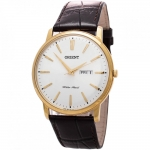 นาฬิกาผู้ชาย Orient รุ่น FUG1R001W, CLASSIC DESIGN Quartz Leather Strap Men's Watch