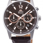 นาฬิกาผู้ชาย Orient รุ่น RA-KV0006Y00C, Sports Chronograph Quartz Leather Strap Japan Made Men's Watch
