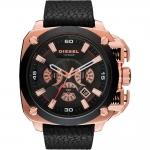 นาฬิกาผู้ชาย Diesel รุ่น DZ7346, BAMF Chronograph Black Leather Men's Watch