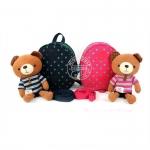 กระเป๋าเป้พร้อมสายกันเด็กหลง ตุ๊กตาหมี winghouse