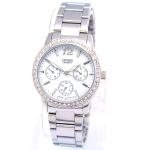 นาฬิกาผู้หญิง Citizen รุ่น ED8090-53D, Dress Crystal Silver Tone Stainless Steel Watch