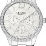 นาฬิกาข้อมือผู้หญิง Citizen รุ่น ED8120-54A, Quartz Swarovski Multi Dial Calendar Elegant