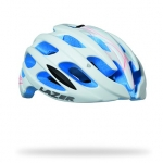 หมวกจักรยาน LAZER Elle สี Matte white swirls blue eps + LED + Aeroshell
