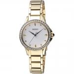 นาฬิกาผู้หญิง Seiko รุ่น SRZ488P1, Quartz Diamond Accent Gold Tone Women's Watch
