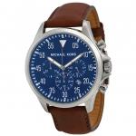 นาฬิกาผู้ชาย Michael Kors รุ่น MK8362, Gage Chronograph Blue Dial Brown Leather Men's Watch