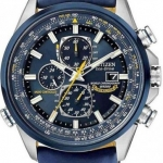 นาฬิกาข้อมือผู้ชาย Citizen Eco-Drive รุ่น AT8020-03L, Chrono Sapphire Global Radio Blue Angels Pilots