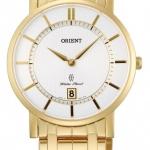 นาฬิกาข้อมือผู้ชาย Orient รุ่น SGW01001W0, Classic Class Sapphire Gold Japan Quartz Men's Watch