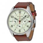 นาฬิกาผู้ชาย Tommy Hilfiger รุ่น 1791208, Corbin Beige Dial Brown Leather Men's Watch