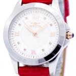 นาฬิกาผู้หญิง Invicta รุ่น INV12544, Angel Diamond-Accented Quartz Leather Strap