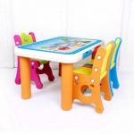 โต๊ะกิจกรรมเด็ก 3 ที่นั่ง สีส้ม