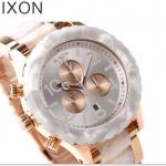 นาฬิกาผู้หญิง Nixon รุ่น A0371046, 42-20 CHRONO White Rose Gold