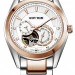 นาฬิกาผู้ชาย Rhythm รุ่น A1402S04, Automatic Sapphire Open Heart A1402S 04, A1402S-04