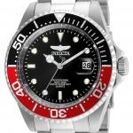 นาฬิกาผู้ชาย Invicta รุ่น INV24945, Pro Diver Black Dial Stainless Steel 200m Men's Watch