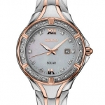 นาฬิกาผู้หญิง Seiko รุ่น SUT374, 28 Diamonds Mother-Of-Pearl Dial Solar Rose-Gold Two-Tone Women's Watch