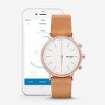 นาฬิกาผู้หญิง Skagen รุ่น SKT1204, Hald Connected Hybrid Smartwatch Leather Women's Watch