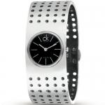 นาฬิกาข้อมือผู้หญิง Calvin Klein รุ่น K8323107, Bangle Sapphire Analog Grid Collection Swiss Watch